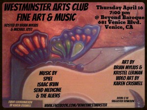 Westminster Arts Club - Fine art and music - Michael Jost - Brian Mylius - Karen Criswell